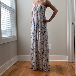 Alice and Olivia Silk Floral Maxi Dress